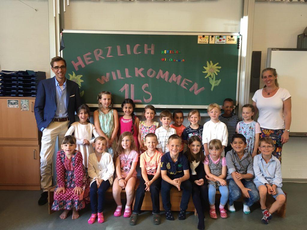 Klasse 1LS mit Herrn Linke und Frau Schulz